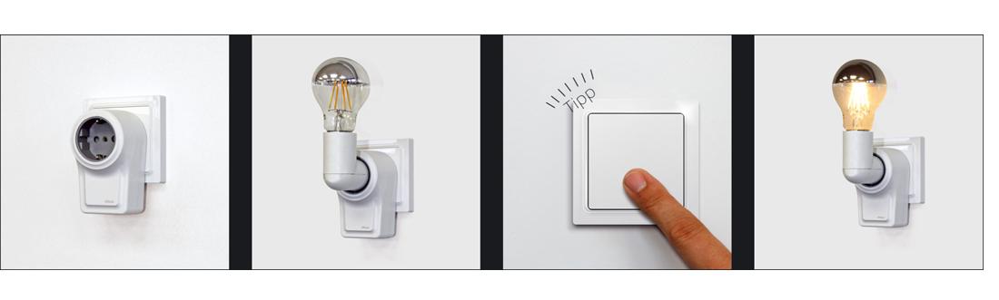 Подключение выключателя к адаптеру